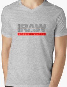 Shoot Raw Mens V-Neck T-Shirt