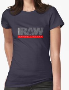 Shoot Raw Womens Fitted T-Shirt