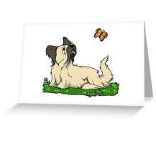 Skye Terrier In Springtime Greeting Card