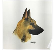 """German Shepherd """"Loyalty and love are not exclusive virtues of human beings"""" Poster"""