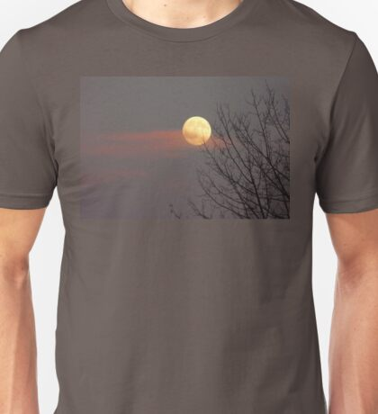 Moon ,clouds and silhouettes Unisex T-Shirt