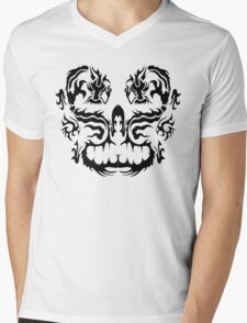 Two Dragons - Black Image Mens V-Neck T-Shirt