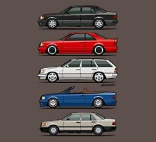Stack of Mercedes Benz W124 E-Class Mens V-Neck T-Shirt