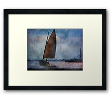 Coming  In Close  Framed Print