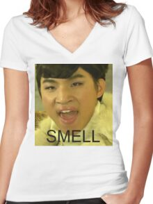 Daesung Smell Women's Fitted V-Neck T-Shirt