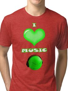 I love music - front Tri-blend T-Shirt