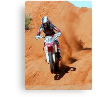 Bike X10 - Finke 2011 Day 2 Canvas Print