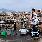 Washing in the disaster area , JAPAN IWAT by yoshiaki nagashima