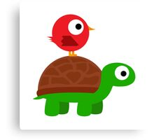 Turtle Birdy Buddies Canvas Print