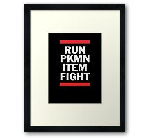 RUN PKMN Framed Print