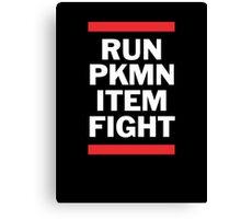 RUN PKMN Canvas Print