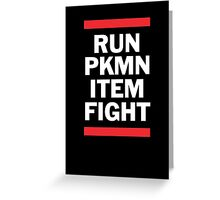RUN PKMN Greeting Card