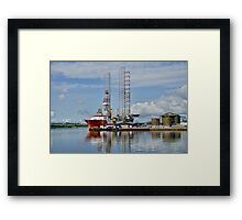 In the Harbour at Invergordon, Scotland Framed Print