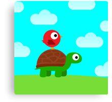 Turtle Birdy Buddies (Sky) Canvas Print