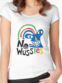 No Wussies Women's Fitted Scoop T-Shirt