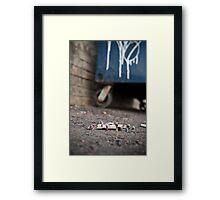 Homeless Family  Framed Print