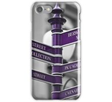 Oxford Circus Sign Post iPhone Case/Skin