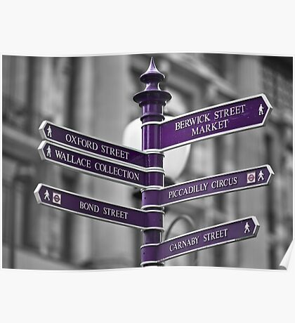 Oxford Circus Sign Post Poster