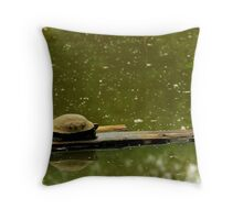 Turtle Procrastinating-Wildlife Reserve Throw Pillow