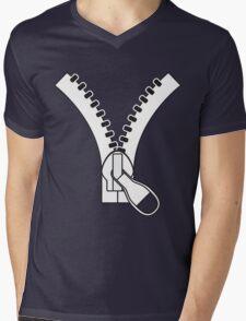 Zip Mens V-Neck T-Shirt