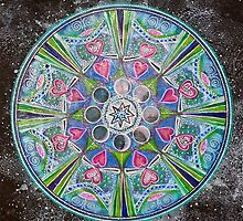 Mandala : Full Moon Eclipse by danita clark