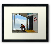 Life guard, Ipanema Brazil Framed Print