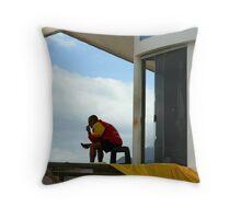 Life guard, Ipanema Brazil Throw Pillow