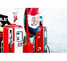 Antique Gas Pump Photographic Print