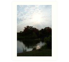 Sunset At The Lake 3 Art Print