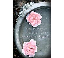 Loss of Precious Girls Photographic Print
