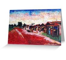 Old Red Sand Market Greeting Card