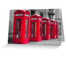 Telephone booths Greeting Card