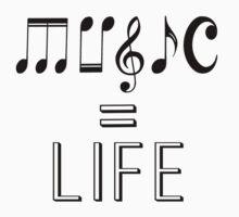 Music is life  Kids Tee