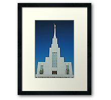 Twin Falls Idaho LDS Temple 1 Framed Print