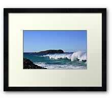 winter surf ... Framed Print