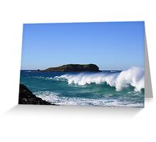 winter surf ... Greeting Card
