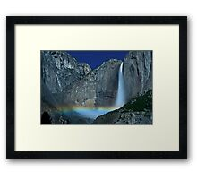 Yosemite Falls Moonbow Framed Print