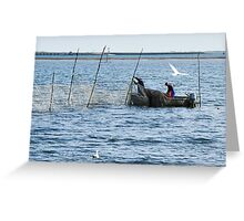 Eel Fishermen Greeting Card