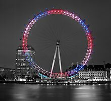 Colourful London Eye by Assaf Frank