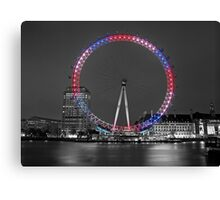 Colourful London Eye Canvas Print