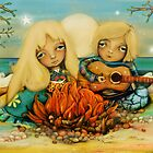 beach campfire by © Karin (Cassidy) Taylor