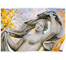 Statue in the park Tsarskoye Selo, Russia  Poster