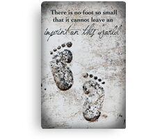 Tiny Footprints Canvas Print