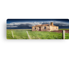 Old Stone Ruin Panorama Canvas Print