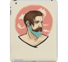 Flower Beard v1 iPad Case/Skin
