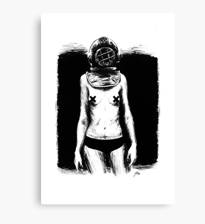 Diving Dress Canvas Print