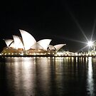 Sydney Opera House at night by John Dalkin