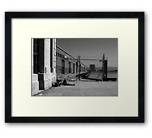 SLEEPING ON THE DOCK OF THE BAY Framed Print