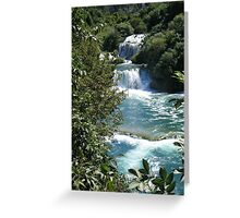 Cascades, Krka National park. Greeting Card