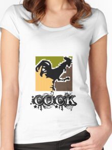 Good Morning Rooster Women's Fitted Scoop T-Shirt
